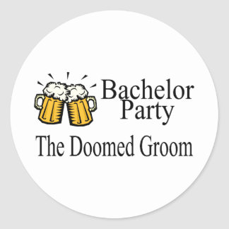 Bachelor Party The Doomed Groom Wedding Stickers