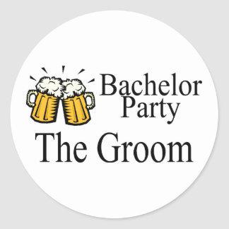 Bachelor Party The Groom Round Sticker