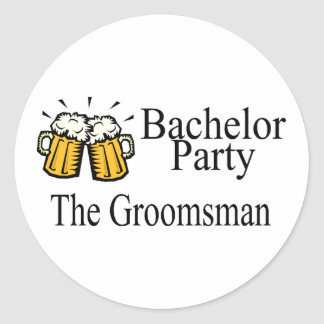 Bachelor Party The Groomsman Round Sticker