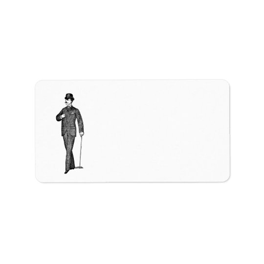 Bachelor Party Vintage Blank Address Label