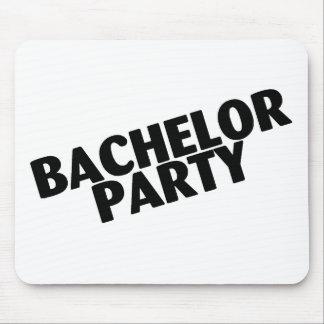 Bachelor Party Wedding Black Mousepad