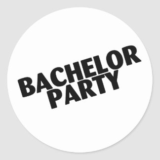 Bachelor Party Wedding Black Stickers