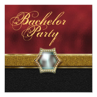 Bachelor stag party 13 cm x 13 cm square invitation card
