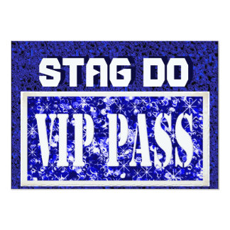 Bachelor Stag Party blue VIP invite