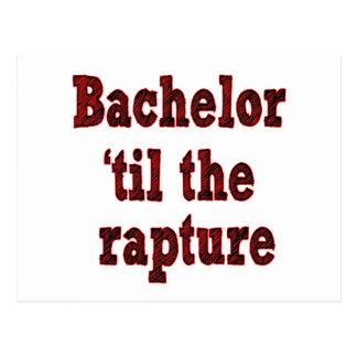 Bachelor 'til the Rapture Postcard