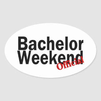 Bachelor Weekend (Official) Oval Sticker