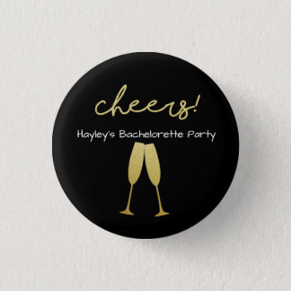 Bachelorette Badge with with with Gold Glitter
