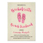 Bachelorette Beach Weekend with Pink Faux Glitter 13 Cm X 18 Cm Invitation Card