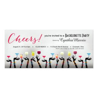 Bachelorette Cocktail Party 10 Cm X 24 Cm Invitation Card