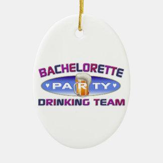 bachelorette drinking team bridal wedding party ornaments
