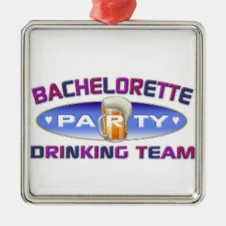 bachelorette drinking team bridal wedding party christmas tree ornament