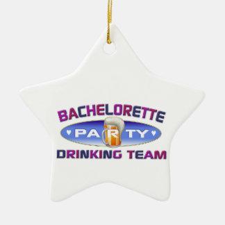 bachelorette drinking team bridal wedding party christmas tree ornaments
