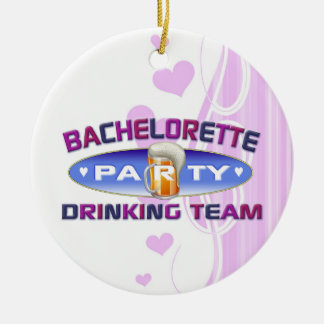 bachelorette drinking team party bridal wedding christmas ornaments
