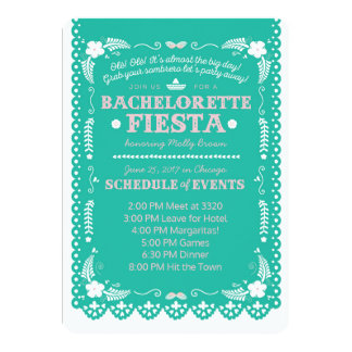 Bachelorette Fiesta 13 Cm X 18 Cm Invitation Card