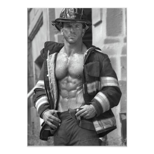 Bachelorette Fireman Party Invitation
