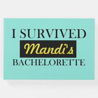 Bachelorette Guest Book   Personalized