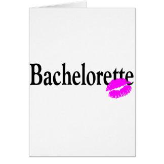 Bachelorette Kiss Greeting Card