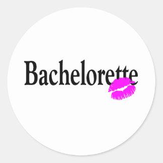 Bachelorette Kiss Round Sticker