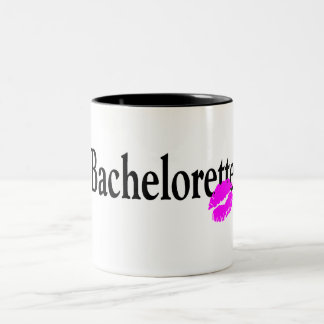 Bachelorette Kiss Two-Tone Coffee Mug