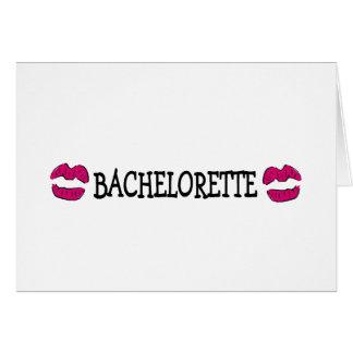 Bachelorette Kisses Greeting Card
