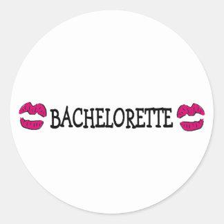 Bachelorette Kisses Round Sticker