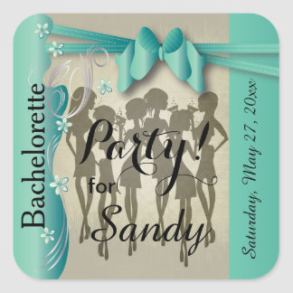 Bachelorette or Birthday Party Diva Girls - Jade Square Sticker
