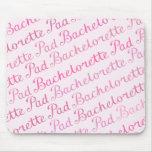 Bachelorette Pad Script Diagonal Repeat Ptn Pinks Mouse Mats