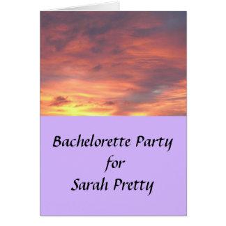 Bachelorette Part RSVP Note Card