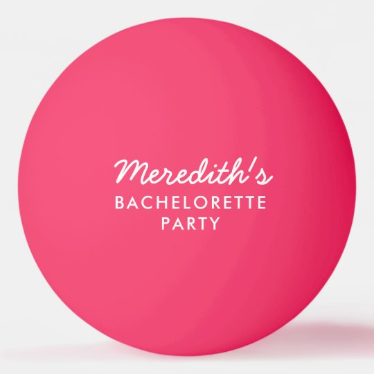 Bachelorette Party Beer Pong Ball with Date