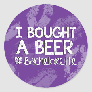 Bachelorette Party Beer Sticker