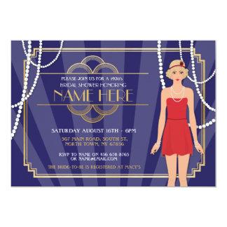 Bachelorette Party Bridal Shower 1920s Girl Invite