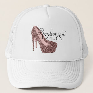Bachelorette Party Bridesmaid | Glitter High Heels Trucker Hat