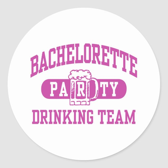Bachelorette Party Classic Round Sticker