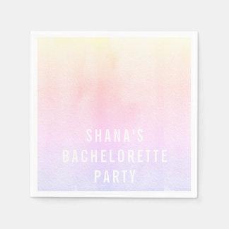 Bachelorette Party Cocktail Napkins Watercolor Disposable Napkin