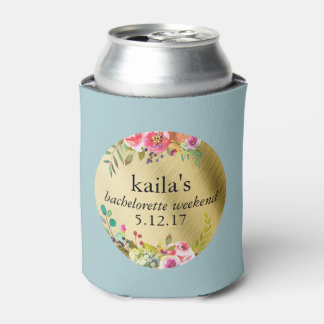 Bachelorette Party Coozie Coolier Faux Gold Foil