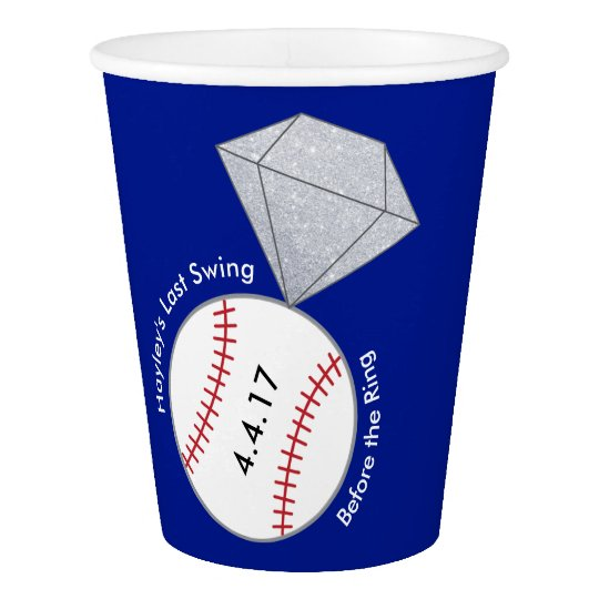 Bachelorette Party Cups- Baseball Theme