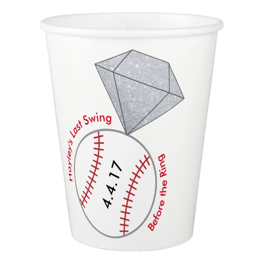 Bachelorette Party Cups- Baseball Theme Paper Cup