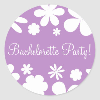 Bachelorette Party Daisy Chain Envelope Seal Stickers