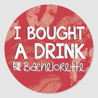 Bachelorette Party Drink Sticker