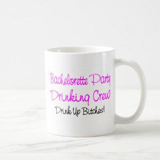 Bachelorette Party Drinking Crew Basic White Mug