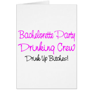 Bachelorette Party Drinking Crew Cards
