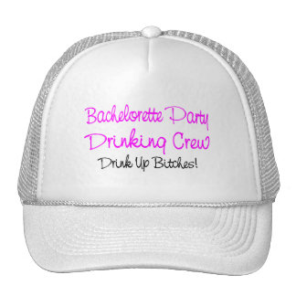 Bachelorette Party Drinking Crew Mesh Hats
