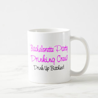 Bachelorette Party Drinking Crew Mugs