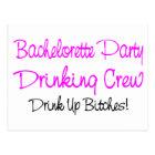 Bachelorette Party Drinking Crew Postcard