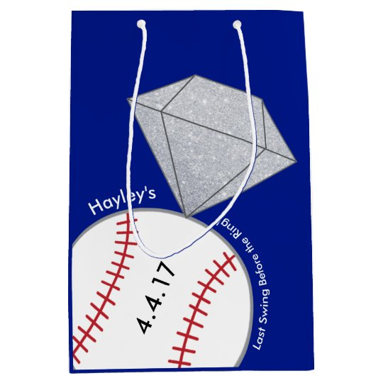 Bachelorette Party Favour Bag- Baseball Theme Medium Gift Bag