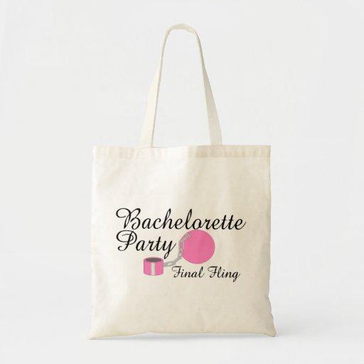 Bachelorette Party Final Fling Budget Tote Bag