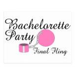Bachelorette Party Final Fling Post Card