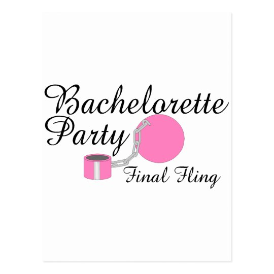 Bachelorette Party Final Fling Postcard