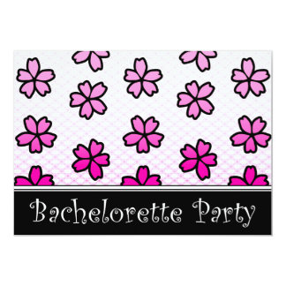 bachelorette party floral invitations