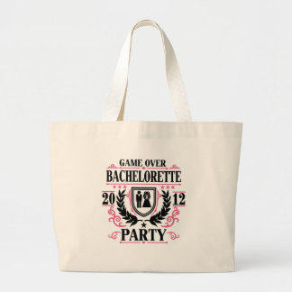 Bachelorette Party Game Over 2012 Canvas Bags